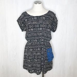 Dolce Vita | 100% Silk Tunic, Graphic Print Sz. L